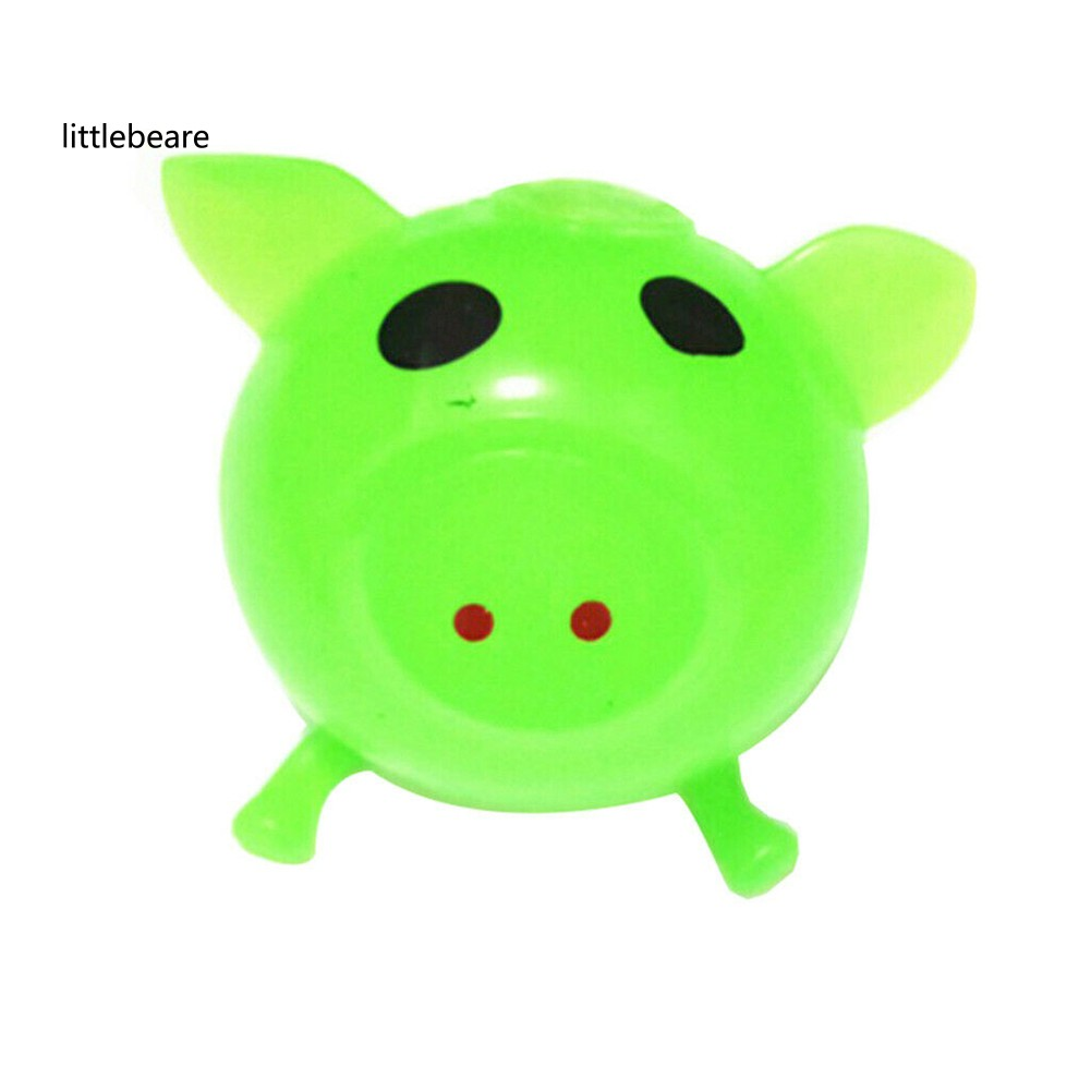 Solid Color Little Pig Anti Stress Splat Water Ball Decompression Squeeze Toy