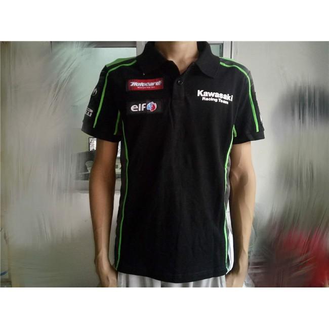 neueste auf großhandel stylistisches Aussehen MotoGP Team Green POLO T-shirt Motorcycle Casual Polo Shirt Kawasaki Racing  Fans