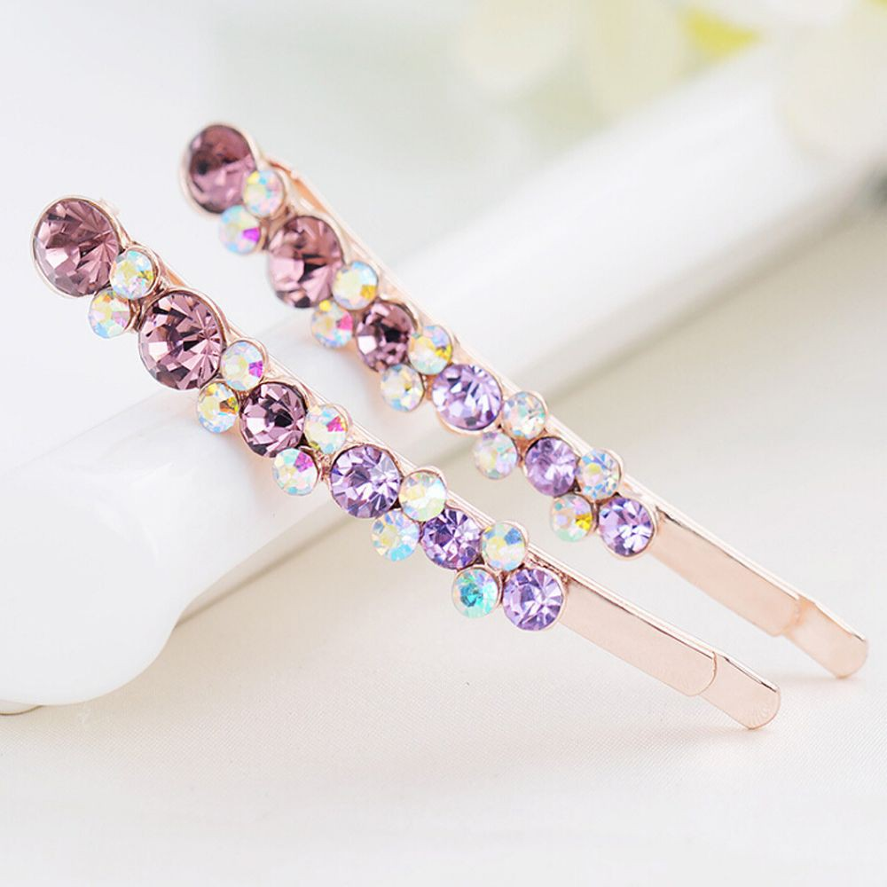 Headwear Gifts Rhinestone Hair Clip Shinning Tiara Crystal Hairpin Edge Clamp