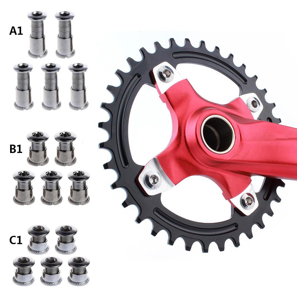 Steel Chainwheel Nail M8 Crankset Screws Hydraulic Disc Bolts Bike Accessories