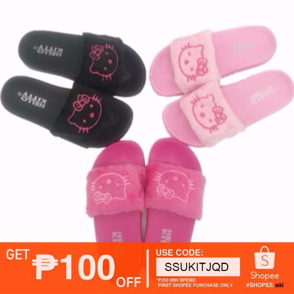 76eb8b853 Fluffy Faux Fur Flat Shoes Women Flip Flop Sandals Slipper