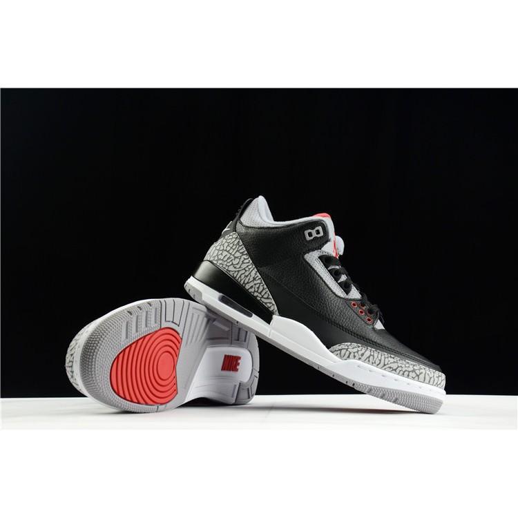 1547e009868 Authentic cod nike Air Jordan 3 Black Cement AJ3 Black Cement crack during    Shopee Philippines