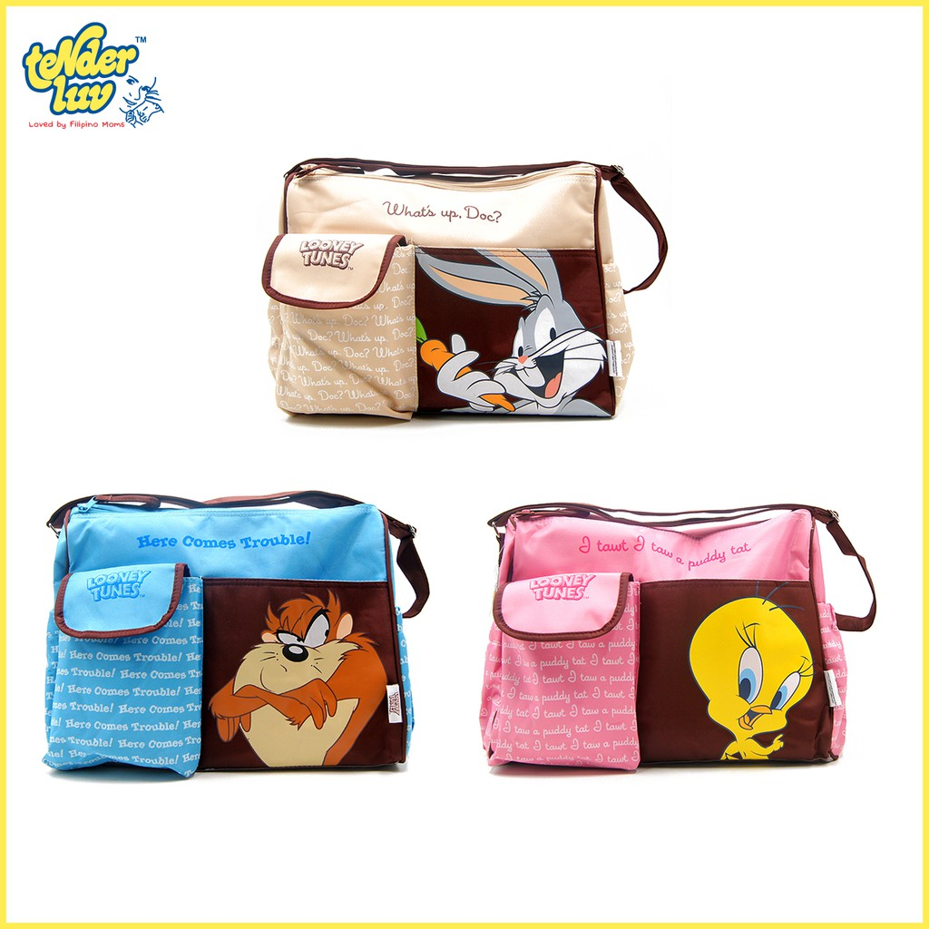 Looney Tunes Microfiber Nursery Bag Set
