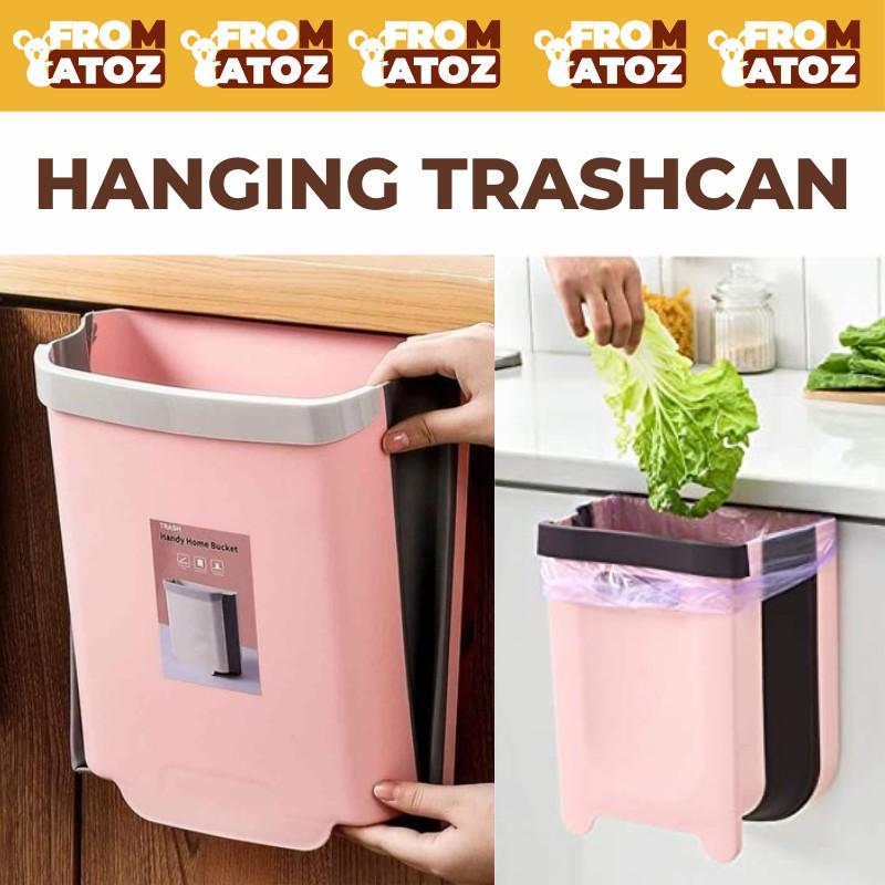 Hanging Trash Can For Kitchen Cabinet, Trash Can For Kitchen Cabinet Door Wastebasket