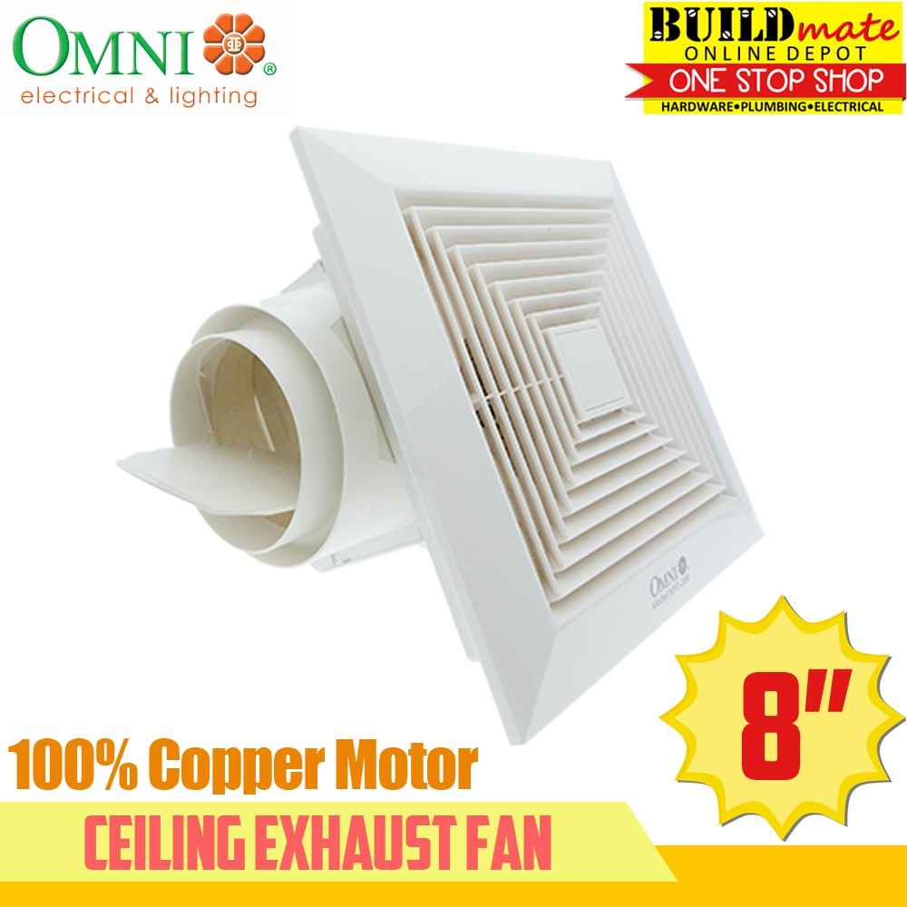 Omni Ceiling Exhaust Fan 8 Quot Xfc200 8 Shopee Philippines