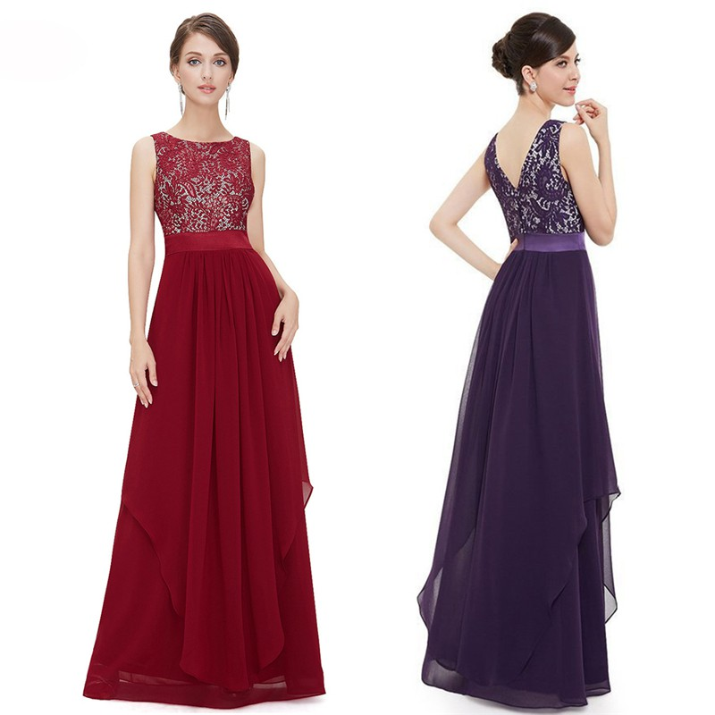 HL🔥Formal Wedding Bridesmaid Long Evening Party Ball Prom Gown ...