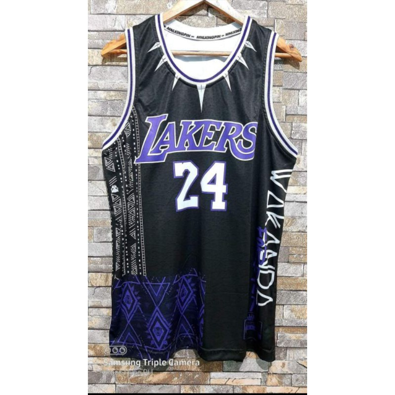 Kobe Black Panther Lakers Edition Jersey   Shopee Philippines