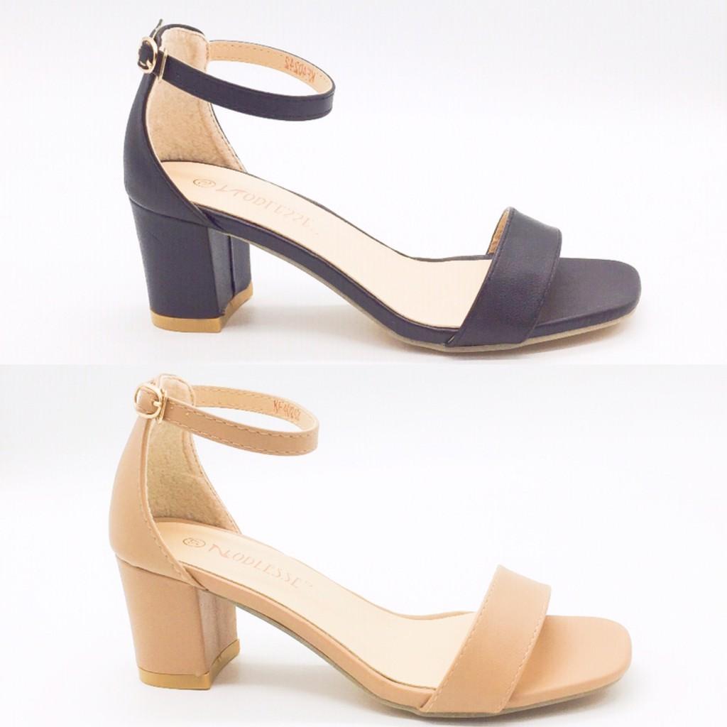 51ebf1aef46 Korean Low High Heel Glossy Sandals 802-6
