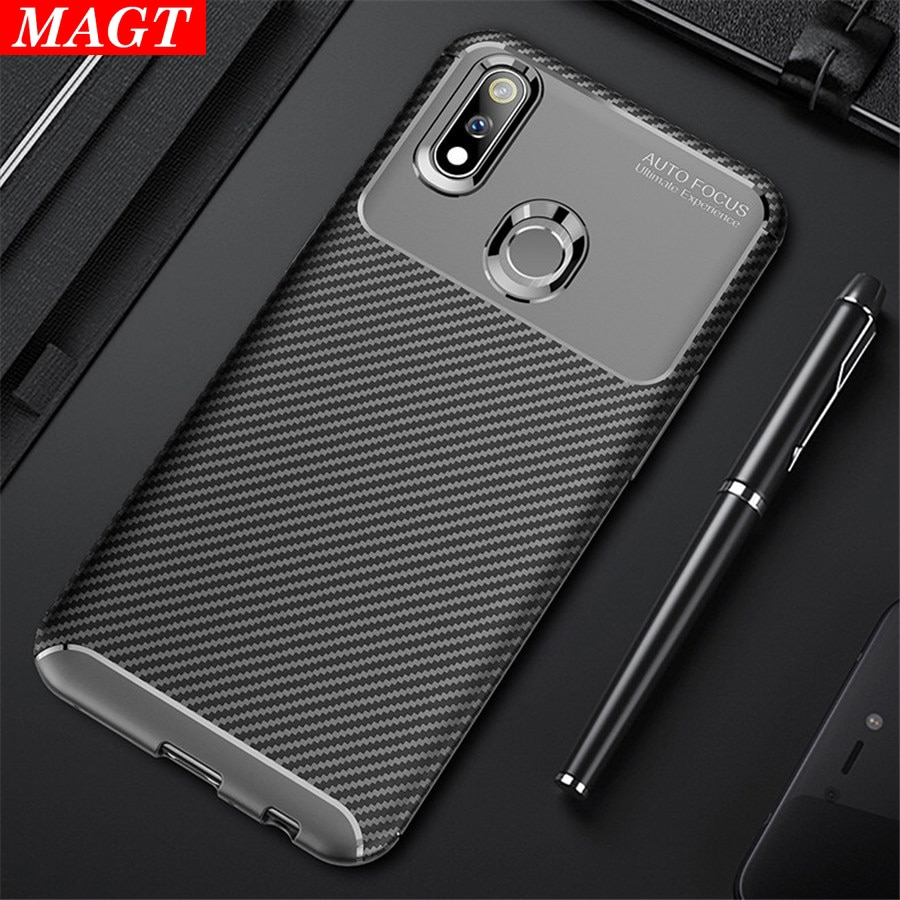 Oppo Realme 3 Pro Luxury Carbon Fiber Soft Silicone Shockproof Phone Case  MAGT