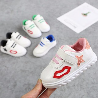 Baby Shoes Lip Stars White Sneakers Sandals Kids Walker Shoes baby boy and girls