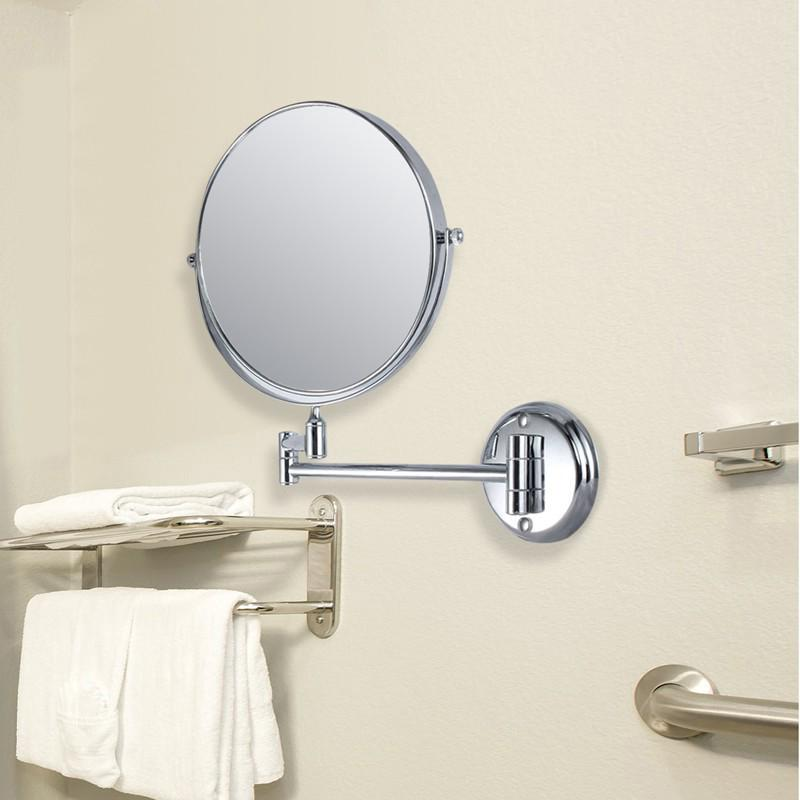 10x Magnification Two Sided Swivel Wall Mount Mirror 8