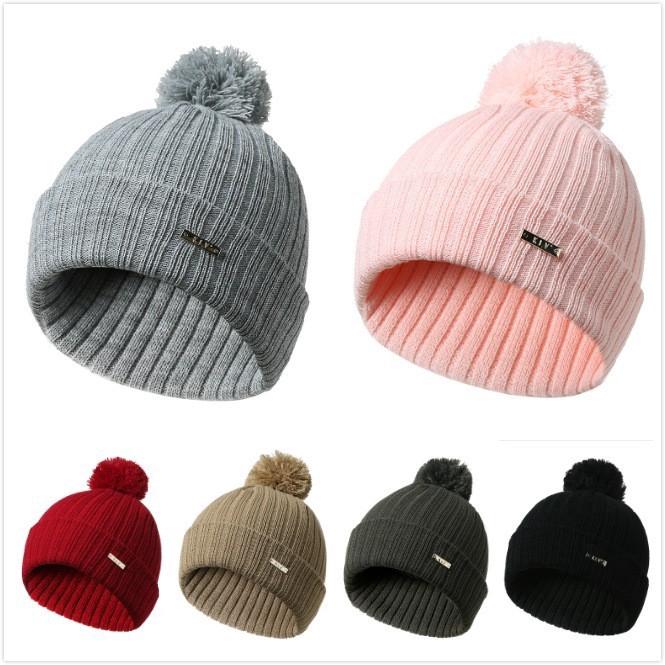 15a66d35 Winter Beanies Hat Unisex Plain Warm Beanie Skull Knit Cap | Shopee ...