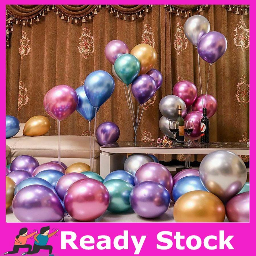 "10pcs 12/"" Metallic Latex Balloons Bouquet Wedding Birthday Party Supplies New"