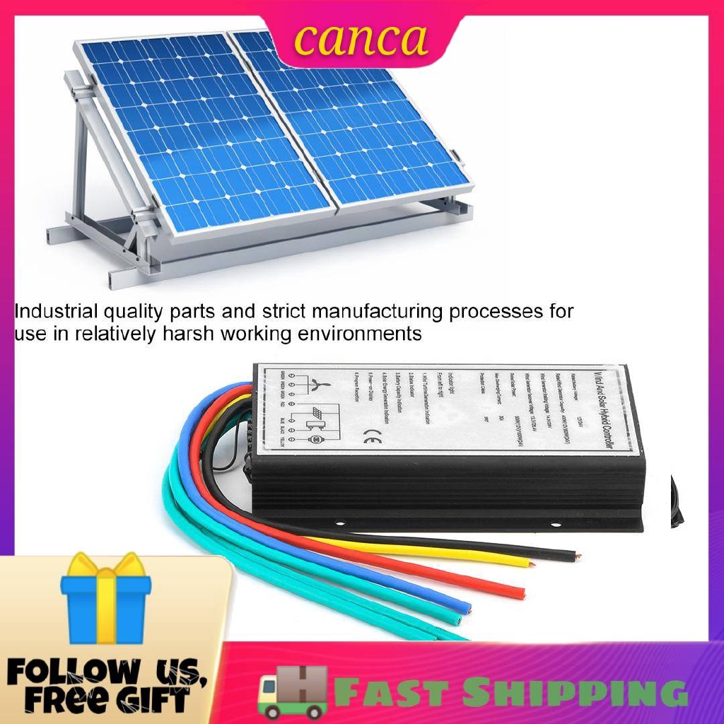 Wind Solar Charge Controller,12//24V 400//800W Wind 500//1000W Wind Solar Hybrid Charge Generator Wind Solar Hybrid Controller for Wind Turbines and Solar Panels
