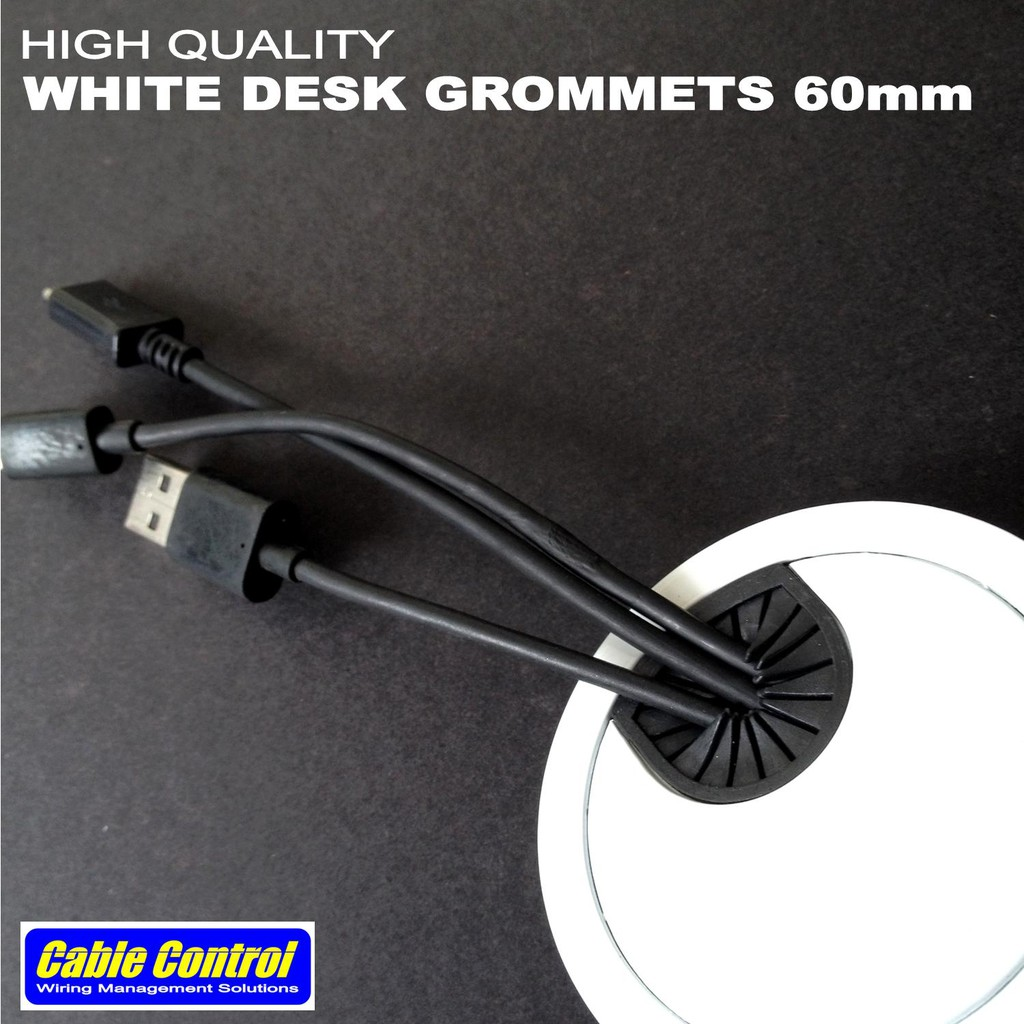 Cable Control White Desk Grommets 60mm Grommet Shopee Philippines Wiring