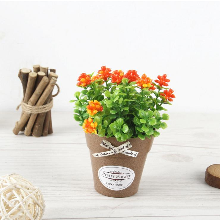 Mini Mulberry Artificial Flower Small Bonsai Set Shopee
