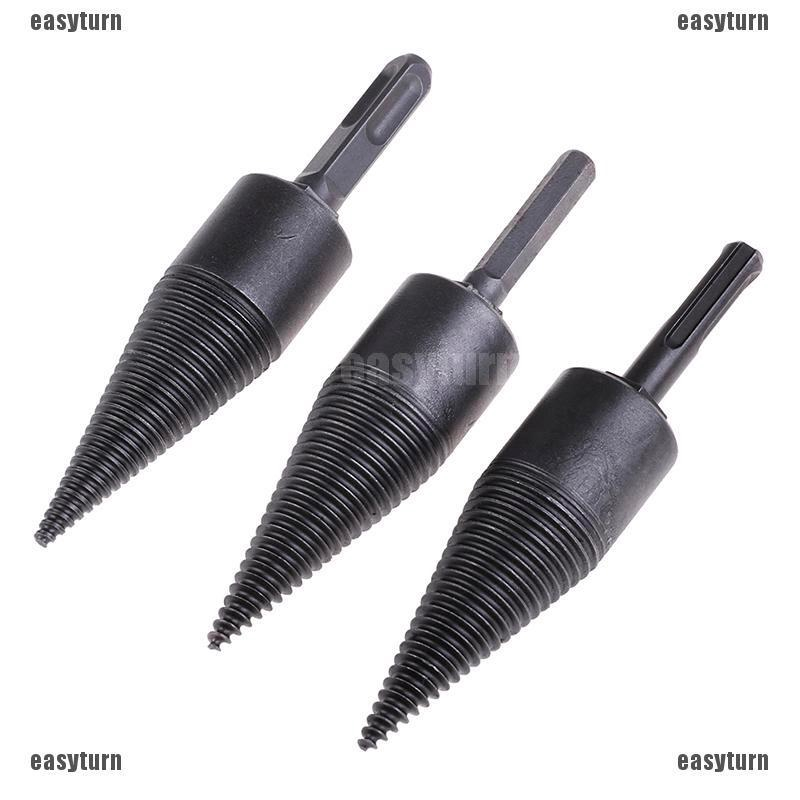 10mm Log Splitter Drill Bit Screw Cone Kindling Firewood Hand Stick Copper Tool