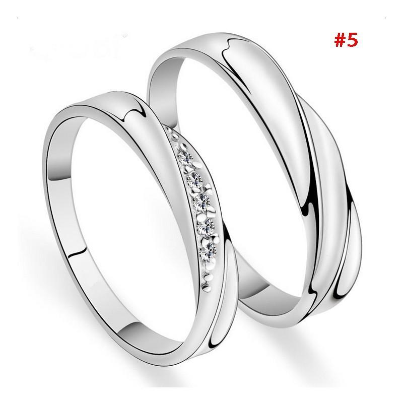 4b51ac7e09 [Kissy] Silver Infinity crystal diamond couple ring | Shopee Philippines