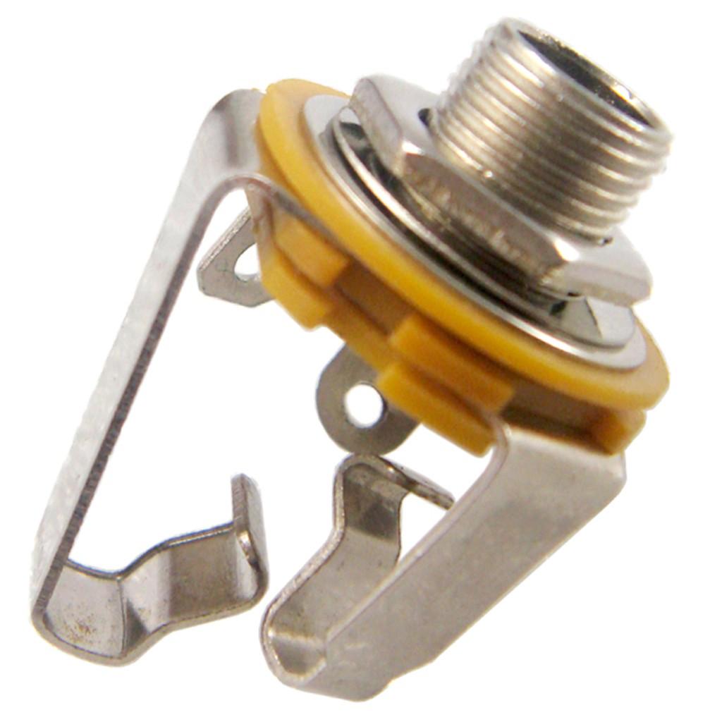 "Amp Nickel Silver Jack Socket Nut 6.35mm 1//4/"" 1 x Guitar"