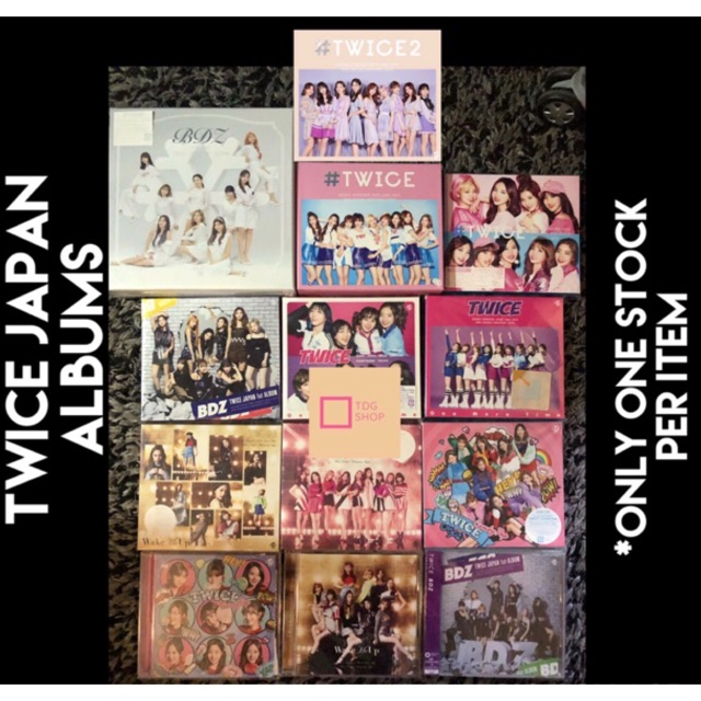 TWICE Japan Regular & Limited Edition Albums (Unsealed)