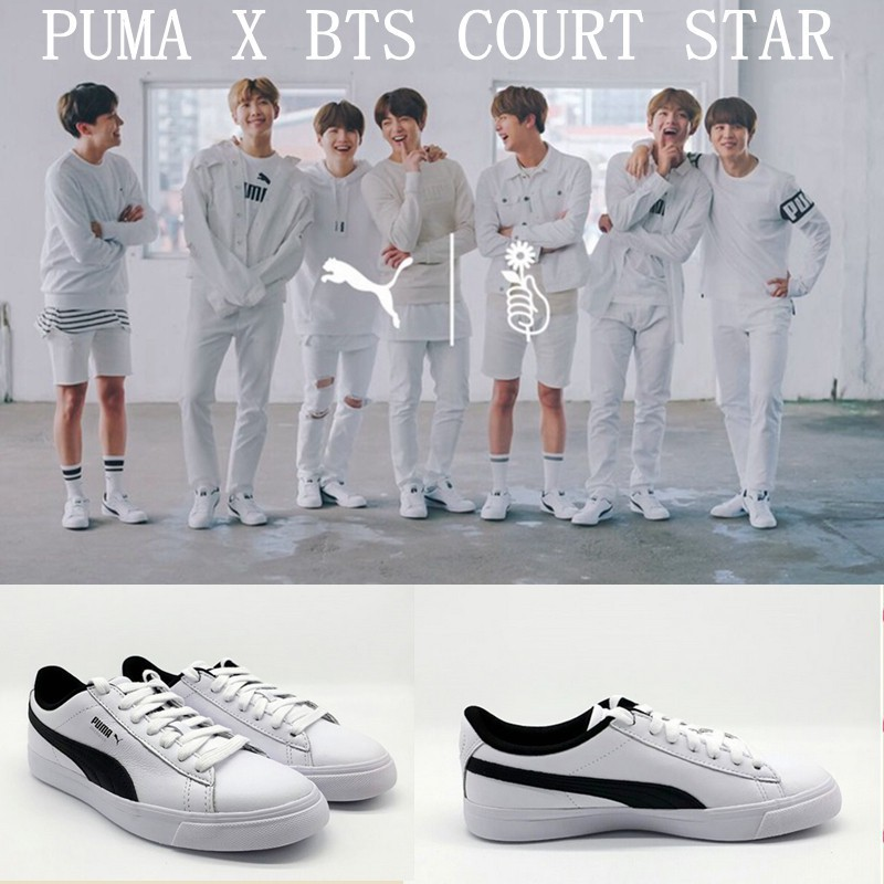 PUMA X BTS COURT STAR Bulletproof Youth League Joint shoes  280362cdd