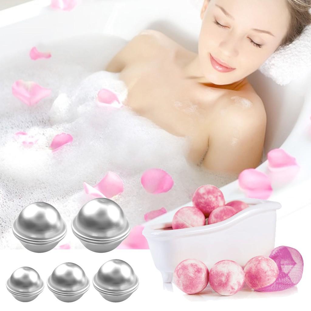 6 Pcs Organic Bath Bombs Bubble Bomb Mould Aluminum Ball Shape Diy Bathing Tool Accessories Creative Mold Bath & Shower