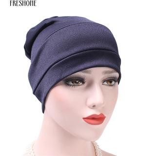 989704b4 COD Freshone Cotton Solid Muslim Bonnet Hat Skullies Beanies Hedging ...