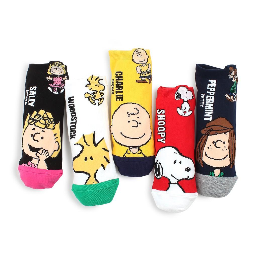 PEANUTS Snoopy Color Women/'s Socks Snoopy /& Woodstock 23-25cm