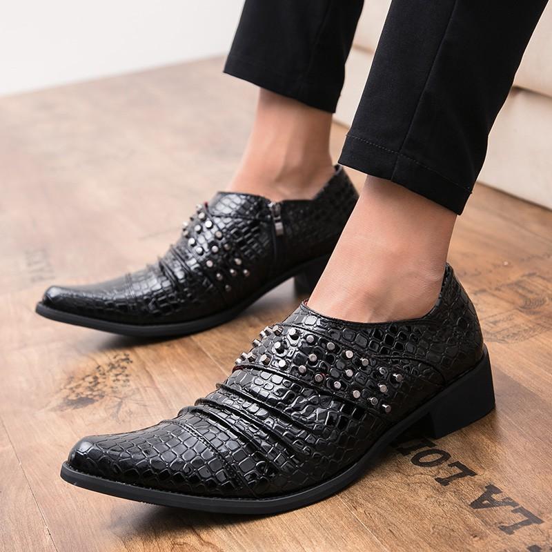 73e22e222da8 Luxury Men Dress Shoes Fashion Brogue Oxford Shoe Wedding | Shopee ...