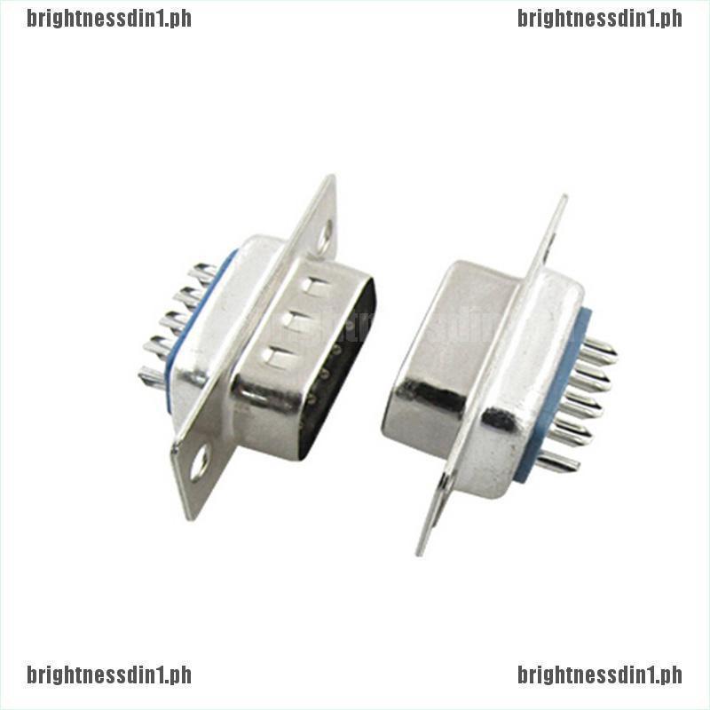 10pcs D-SUB 9 Pin DB9 Male Solder Type Socket Connector