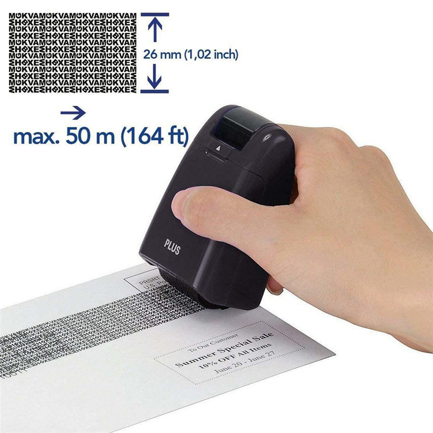 ID Theft Protection Stamp Roller Guard Your Data Identity Security Privacy New