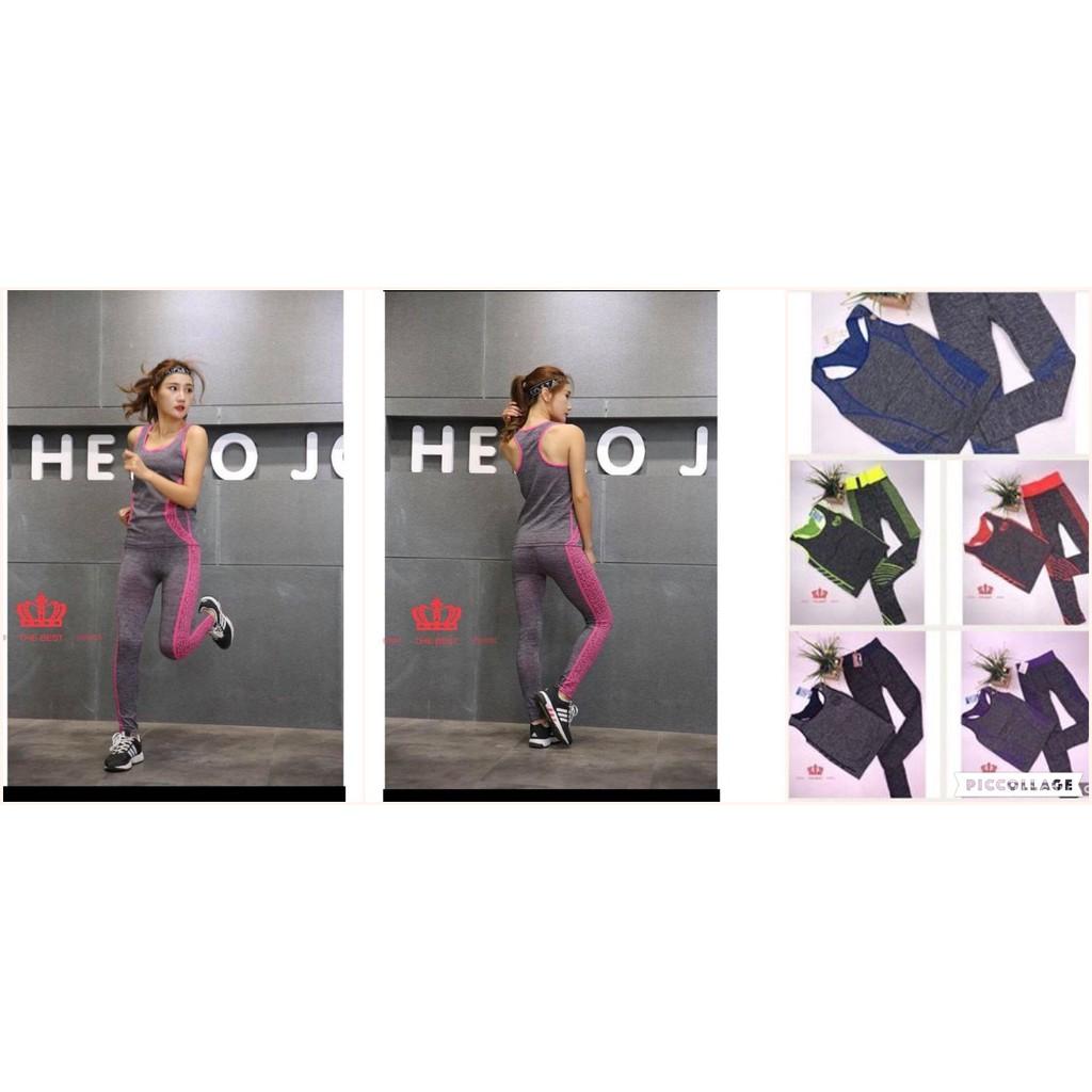 58024eca40de4 Women's Printed Sport Gym Yoga Vest Bra Pencil Legging Pants Ladies Outfit  Set | Shopee Philippines