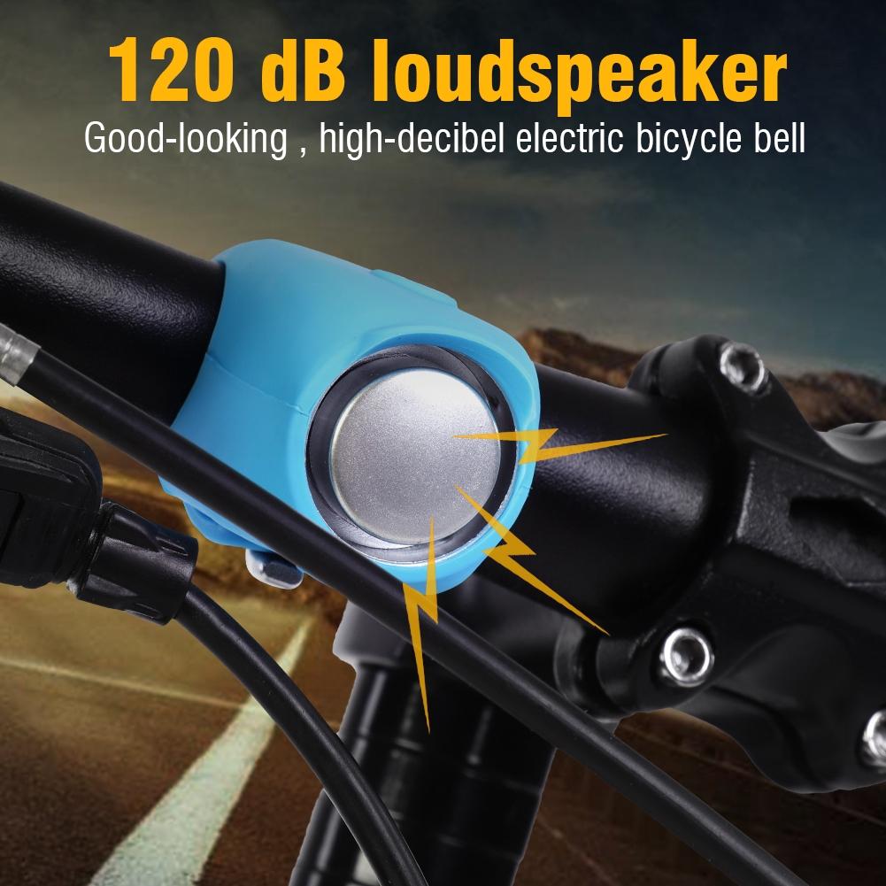 120dB Cycling Bike Electric Bells Horn Silicone Shell MTB Bicycle Handlebar Bell