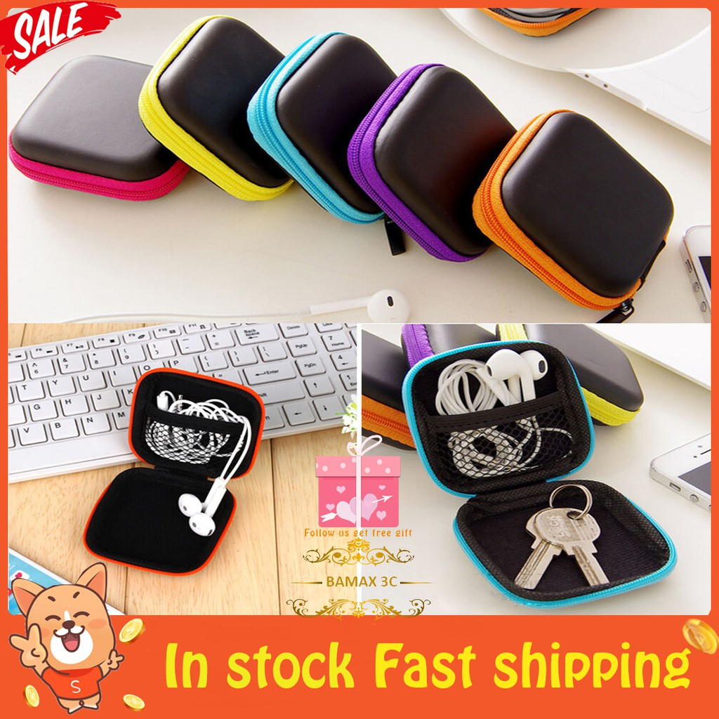 5Color SD TF Card Earphone Hard Case Storage Bag