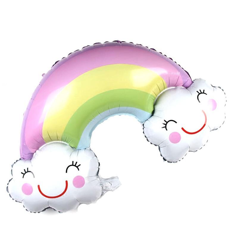 Rainbow Smile Cloud Birthday Party Wedding Decor Aluminum Foil Balloon AL