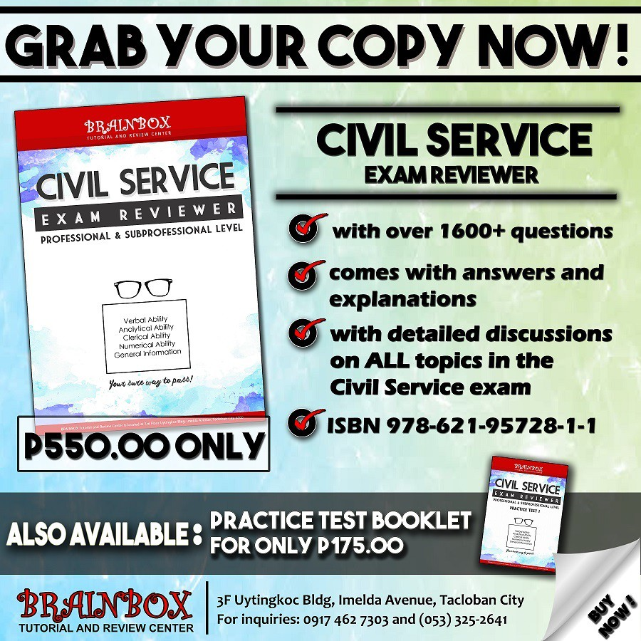 NCV CIVIL SERVICE EXAMINATIONS ULTIMATE REVIEWER BOOK 2019   Shopee  Philippines