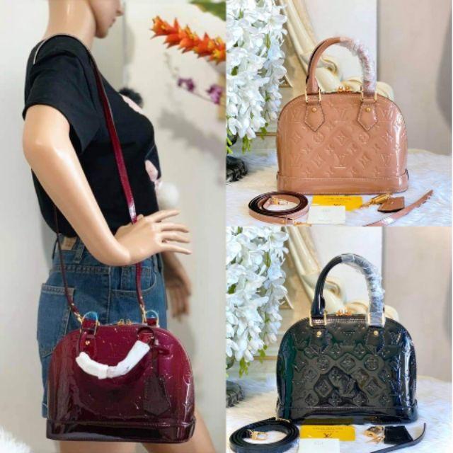 Lv Alma Bb Monogram Vernis Leather Handbags Shopee Philippines