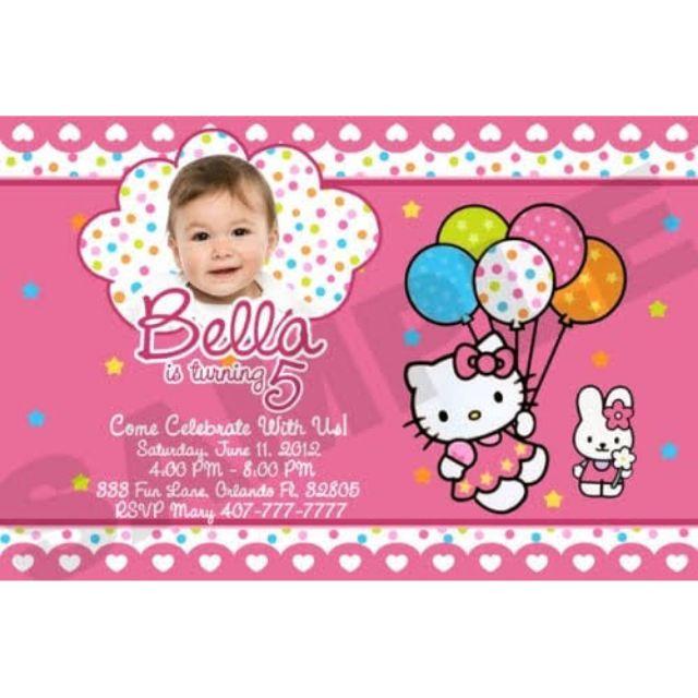 Hello Kitty Personalized Invitation
