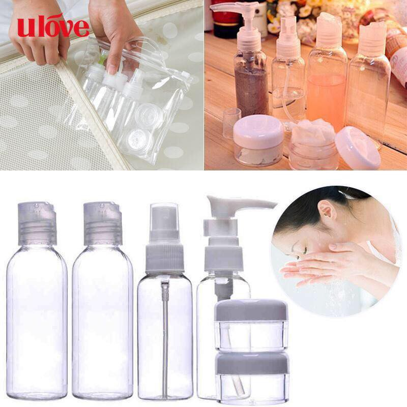 1628e87a7504 6PCS Travel Set Cosmetic Spray Bottles Empty Container