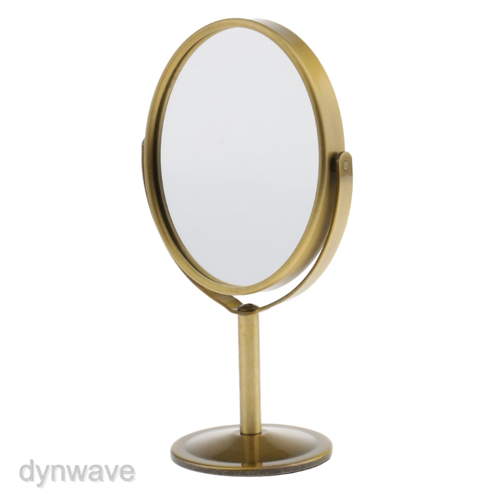 Tabletop Vanity Stand Oval Mirror