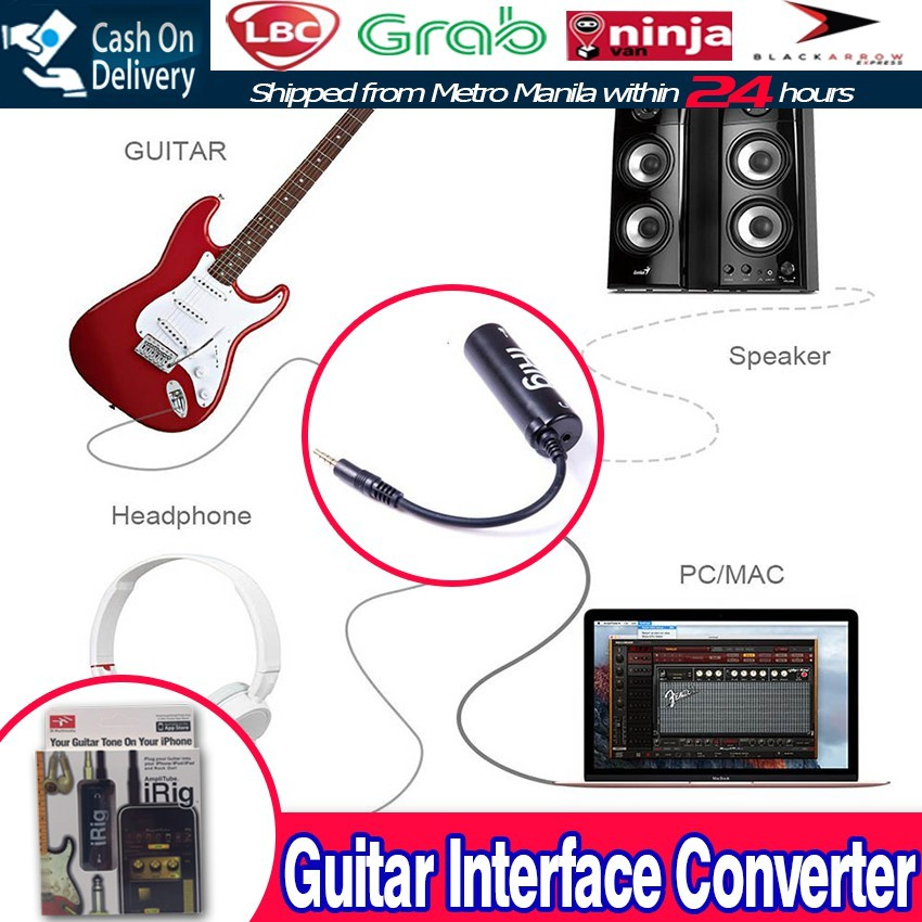 Guitar Irig Link Cable Adapter Amp Audio Interface Converter Shopee Philippines