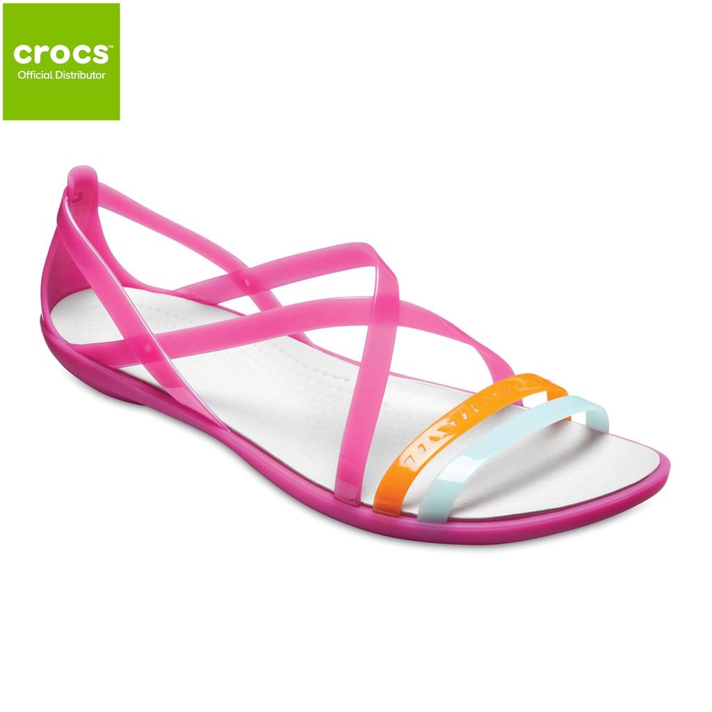 b76e3e169f99 Crocs Womens Isabella Cut Strappy Sandal - Paradise Pink