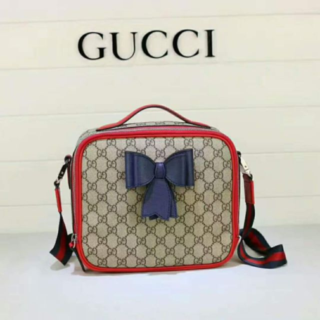 f6757c508652 Gucci GG Supreme Bow Messenger Bag KM583 | Shopee Philippines