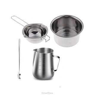 DIY Candle Soap Making Tools Kit Wax Melting Pot Mixing Spoon Tweezers Mug Set