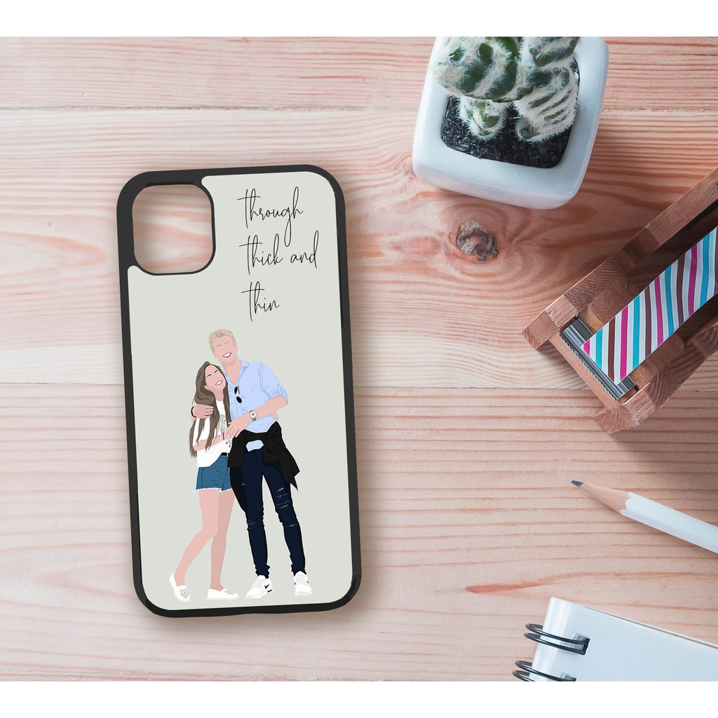 Customized digital portrait iPhone case and android case