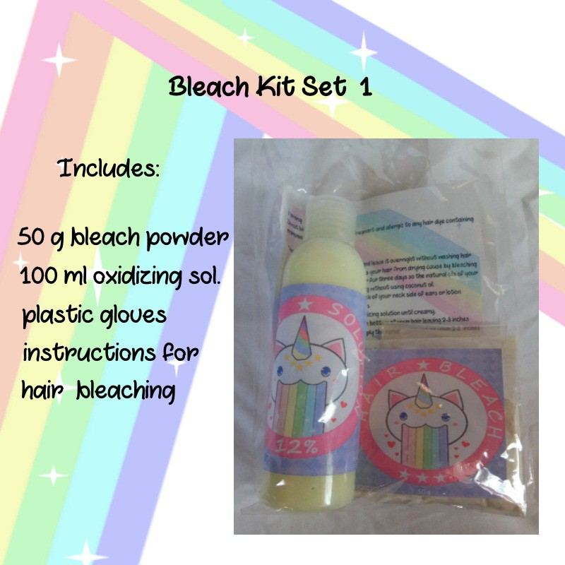Bleach hair kit set on sale!