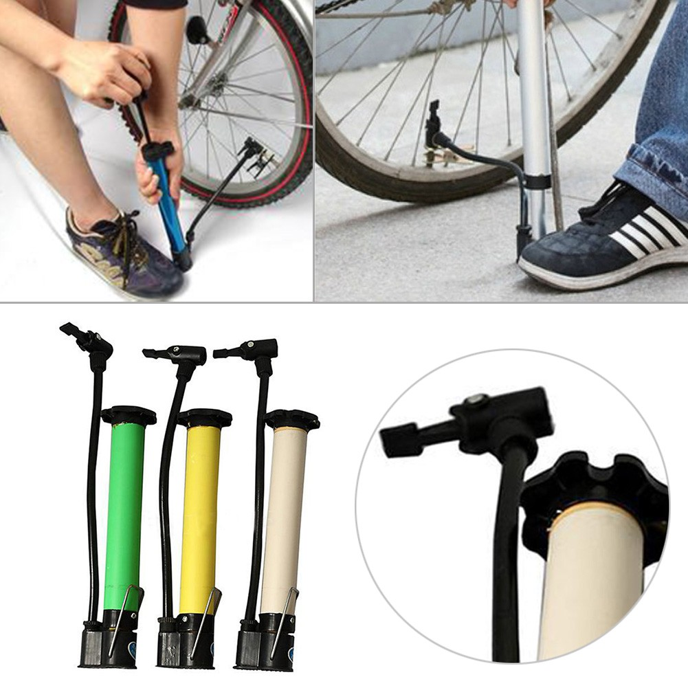Portable Mini Bike Bicycle Tire Tyre Pump Gauge Road MTB Air Inflator