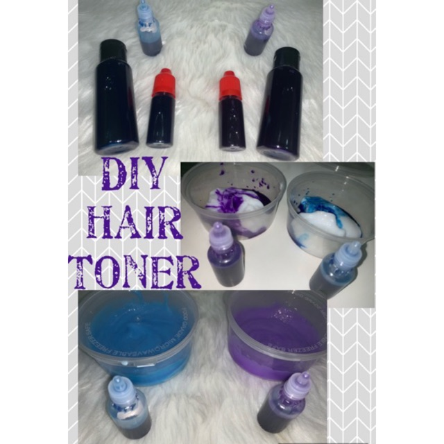 Diy Hair Toner Dye Blue Or Purple Makeurown Toner