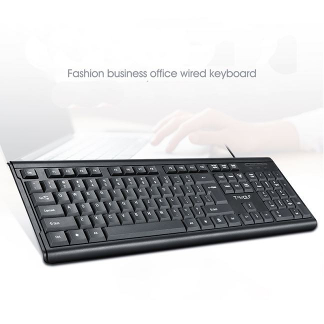 T-WOLF T15 Business Wired Keyboard   Shopee Philippines