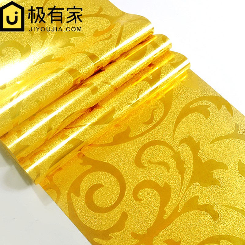 Gold Foil Wallpaper Gold Silver European Style 茛苕 Leaves Ktv